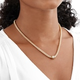 FOPE 18ct Yellow Gold Solo 0.10ct Diamond Necklace