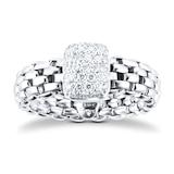 Fope 18ct White Gold Vendome Flex'it 0.41ct Diamond Pave Ring