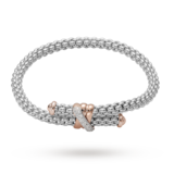 FOPE 18ct White Gold Solo Flex'It 0.20ct Diamond Bracelet