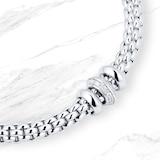 FOPE 18ct White Gold Solo Flex'It 0.17ct Diamond Bracelet