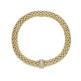 FOPE 18ct Yellow Gold Love Nest Flex'it 0.33ct Diamond Bracelet