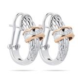 FOPE 18ct Rose Gold Love Nest Diamond Earrings