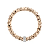 FOPE 18ct Rose & White Gold Flex'it Bracelet