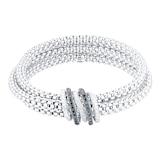 FOPE 18ct White Gold Solo MiaLuce Bracelet