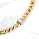 FOPE 18ct Yellow & White Gold Flext'it Necklace