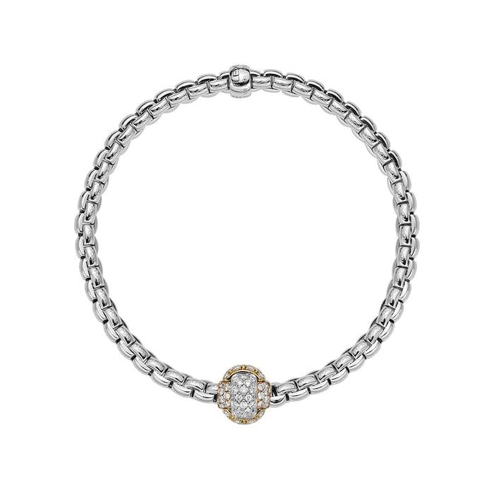 FOPE 18ct White Gold EKA Tiny Bracelet