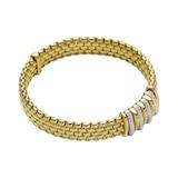 Fope 18k Yellow Gold 0.30cttw Diamond Panorama Bracelet
