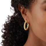 Fope Essentials 18ct Yellow Gold Small Hoop Earrings