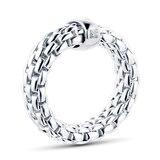 Fope Essentials 18ct White Gold Flex'it 7mm Medium Ring