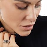 Fope Essentials 18ct White Gold Flex'it 9.9mm Medium Ring