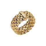 Fope Essentials 18ct Yellow Gold Flex'it 9.9mm Medium Ring