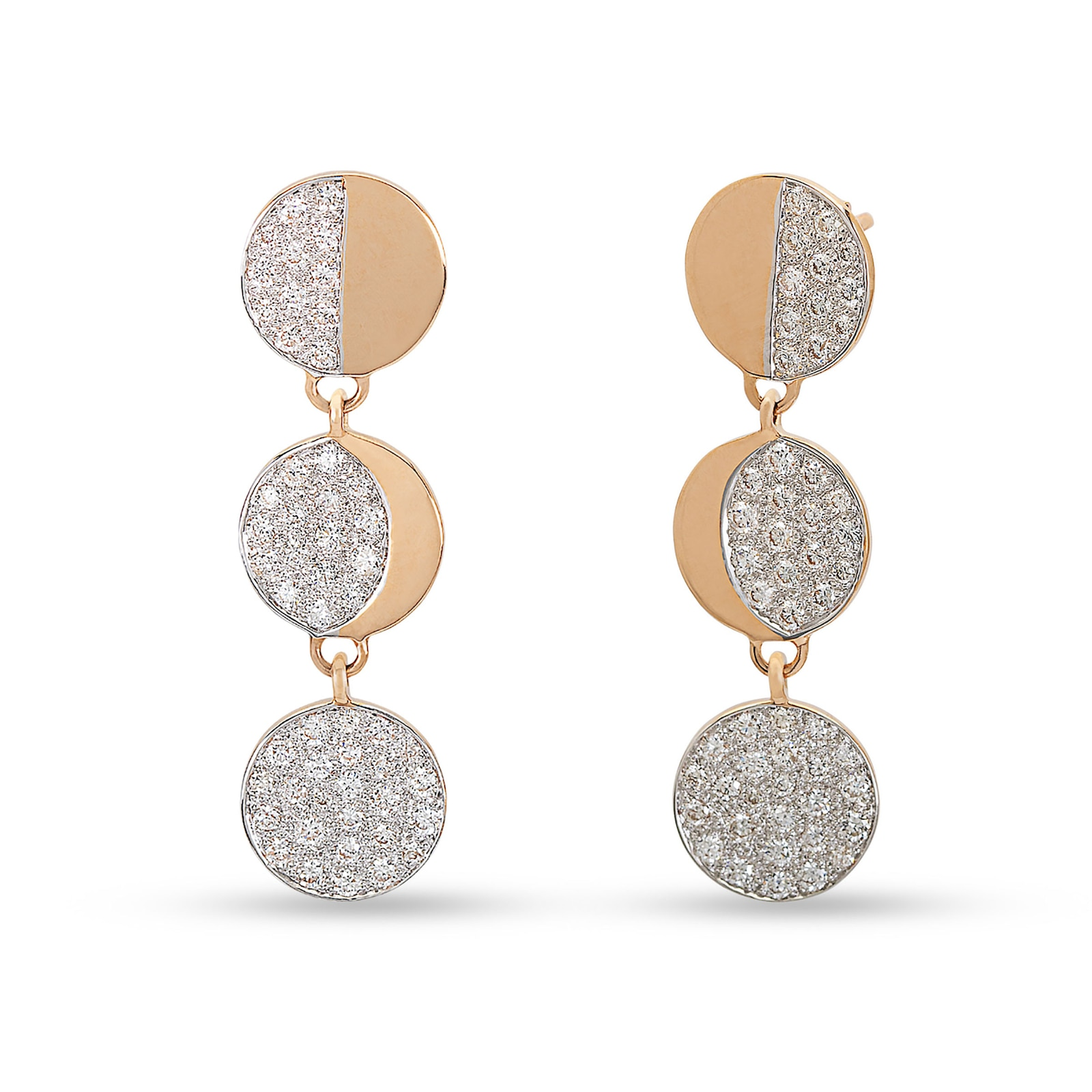Pamela Love Moon Phase Drop Earrings