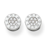Thomas Sabo Sterling Silver White Pave Stud Earrings