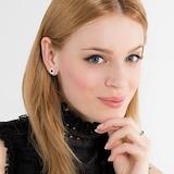 Thomas Sabo Sterling Silver Black Pave Stud Earrings