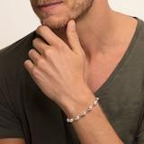 Thomas Sabo Mens Sterling Silver 16-19cm Skull Bracelet