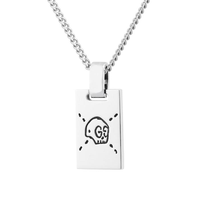Gucci Gucci Ghost Pendant Necklace in Silver