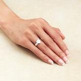 Gucci Trademark Silver Heart Ring