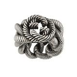 Gucci Groumette Interlocking G Silver Ring