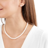 Mikimoto Exclusive Akoya Pearl Necklace and Stud Earrings Set