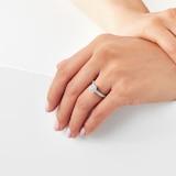 Jenny Packham 18ct White Gold Cushion Cut 0.70cttw Halo Diamond Ring