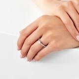Jenny Packham 18ct White Gold 0.50cttw Diamond 8 Claw Single Stone Ring