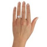 Jenny Packham 18ct White Gold Emerald Cut 0.90cttw Halo Diamond Ring