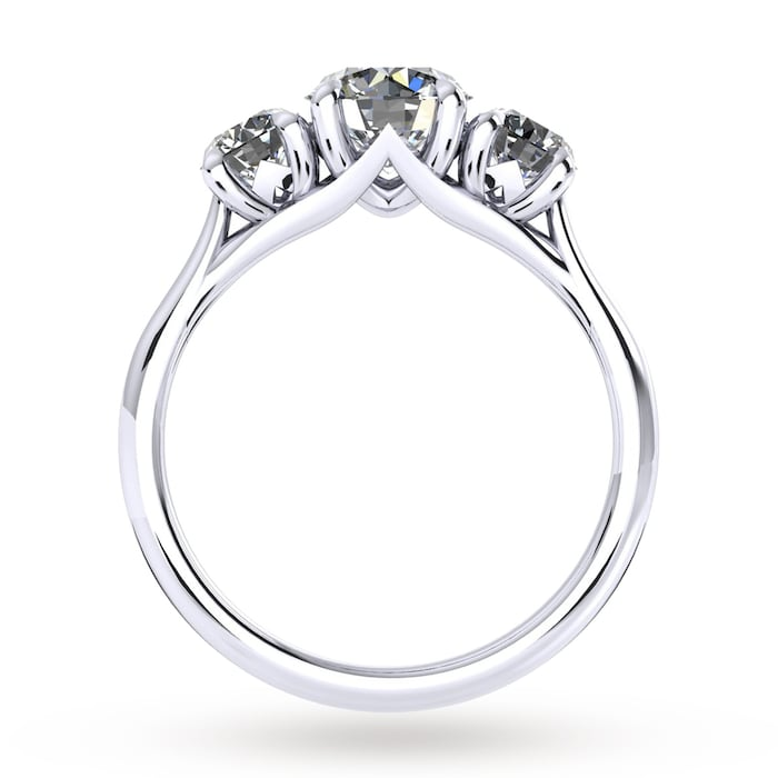 Mappin & Webb Ena Harkness Three Stone Engagement Ring 1.20 Carat Total Weight