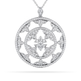 Mappin & Webb Empress White Gold and Diamond Medallion