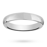 Mappin & Webb 5mm Heavy Court Gents Wedding Ring In Platinum