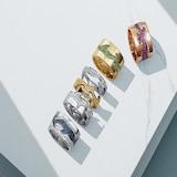 Georg Jensen 18ct White Gold Fusion End Diamond Pave Set Ring - Ring Size Q