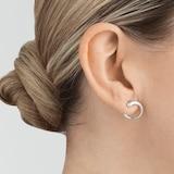 Georg Jensen Sterling Silver Mercy Hoop Earrings