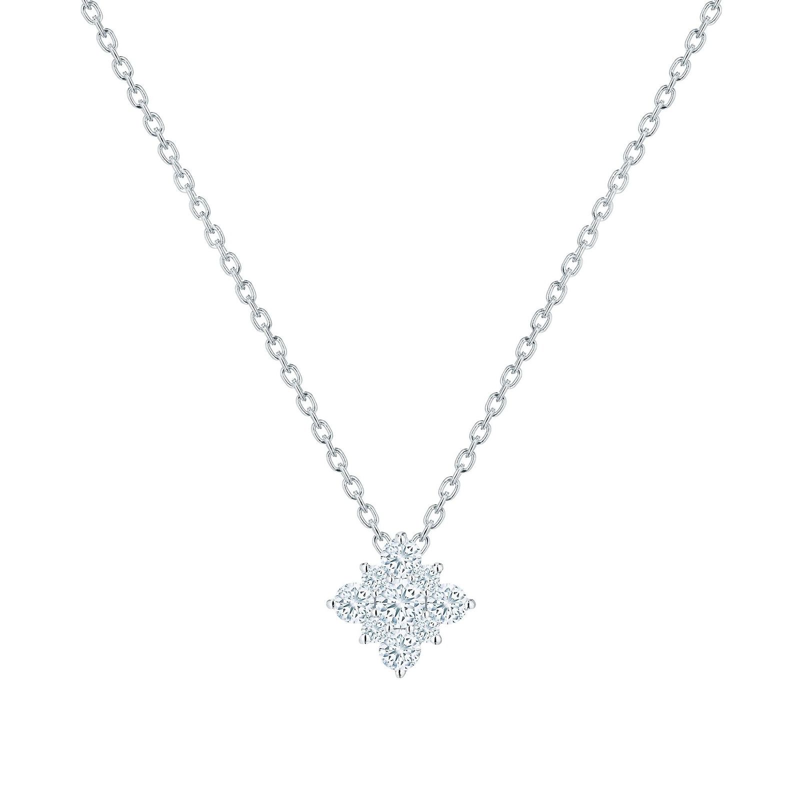 Birks Snowflake Diamond Necklace