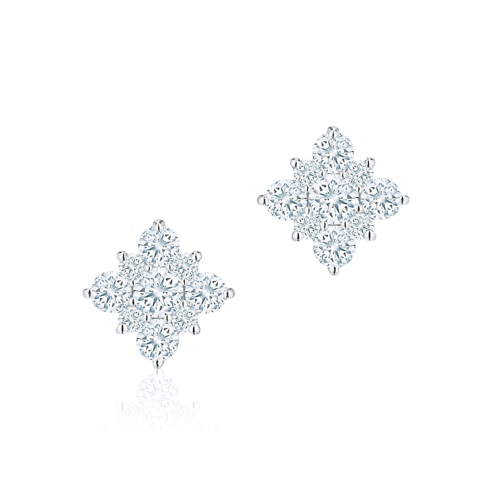 Birks Snowflake Diamond Snowflake Stud Earrings
