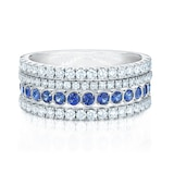 Splash Diamond and Blue Sapphire Ring