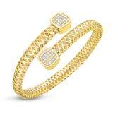 Roberto Coin Primavera Flexible Diamond Wrap Bangle