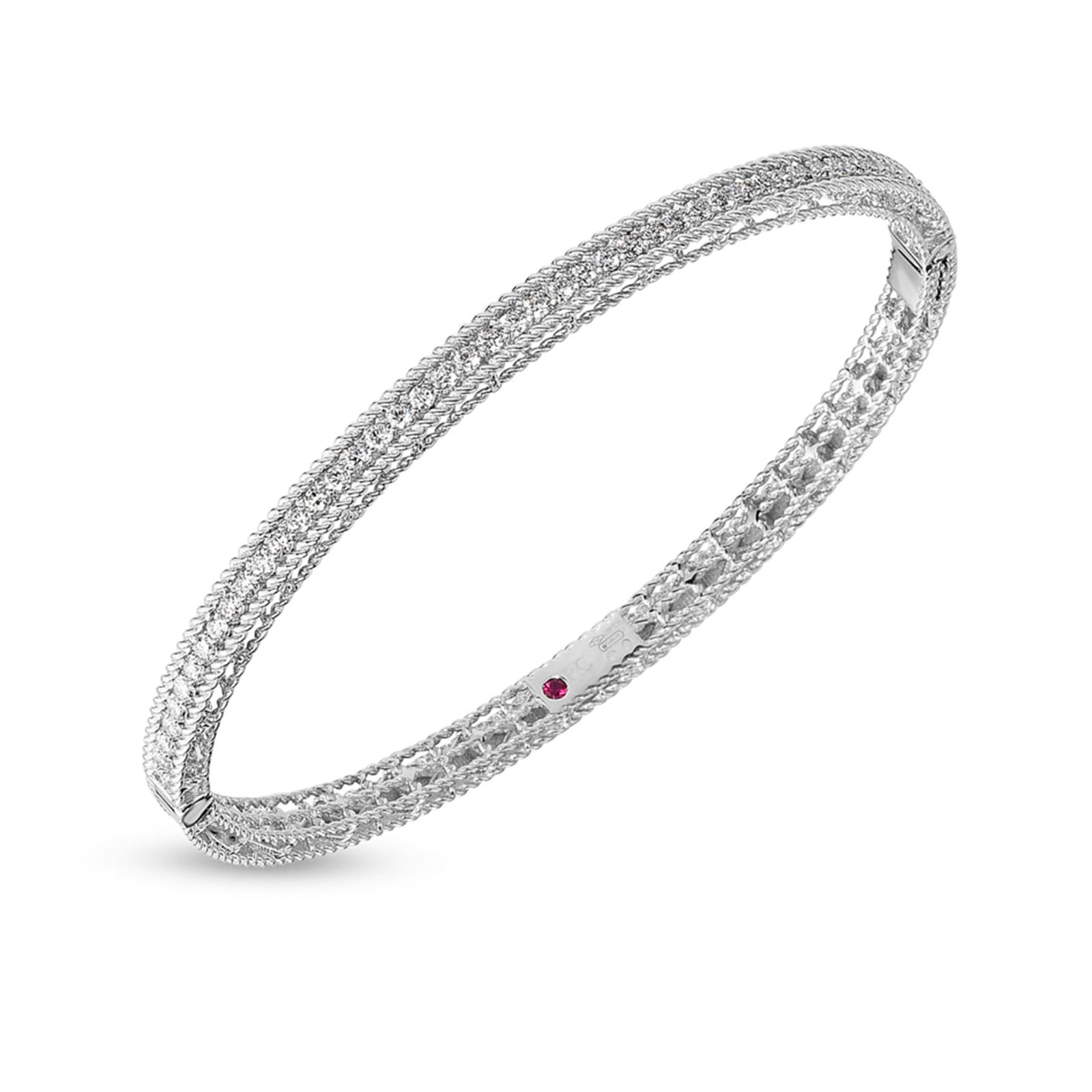 Roberto Coin Symphony Princess Oval Diamond Bangle