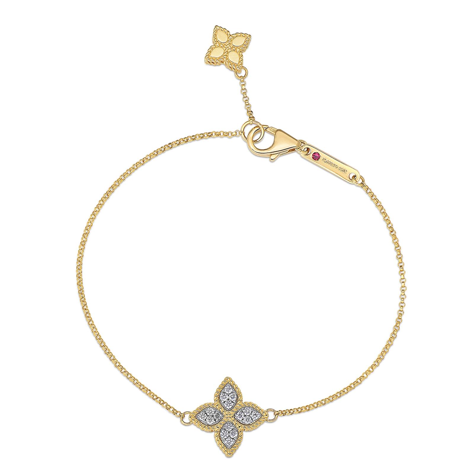 Roberto Coin Princess Flower Diamond Bracelet