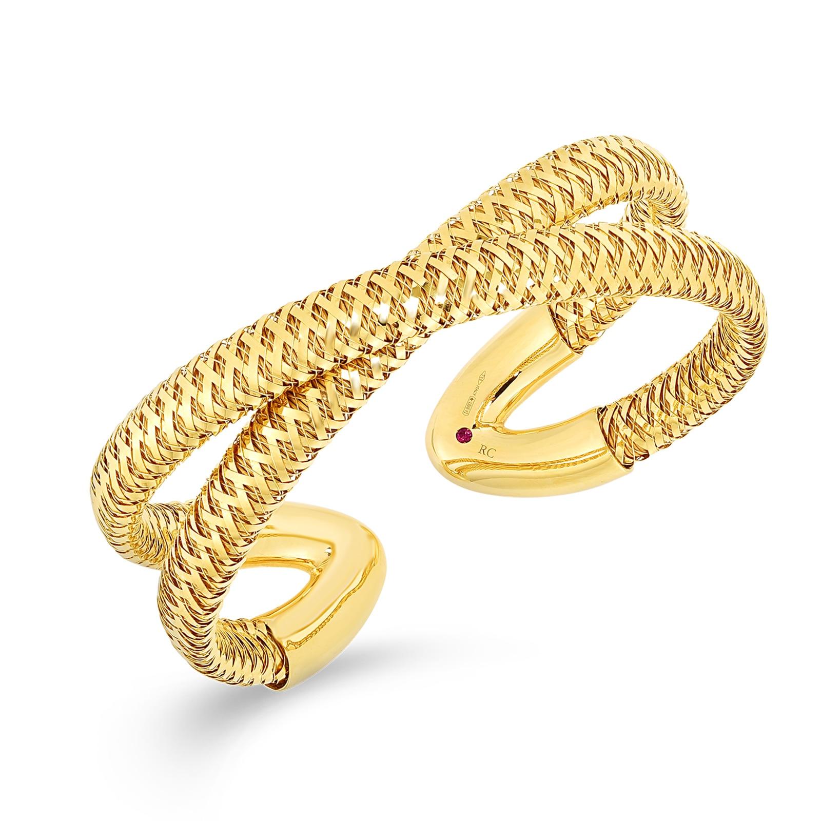Roberto Coin Primavera Crossover Cuff Bracelet