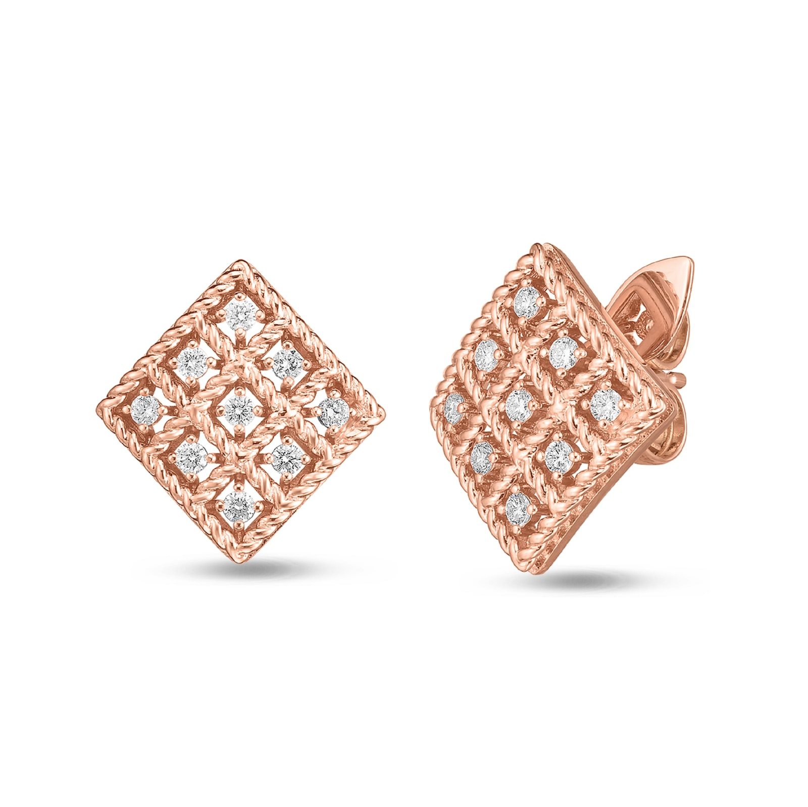 Roberto Coin Roberto Coin Byzantine Barocco Diamond Earrings