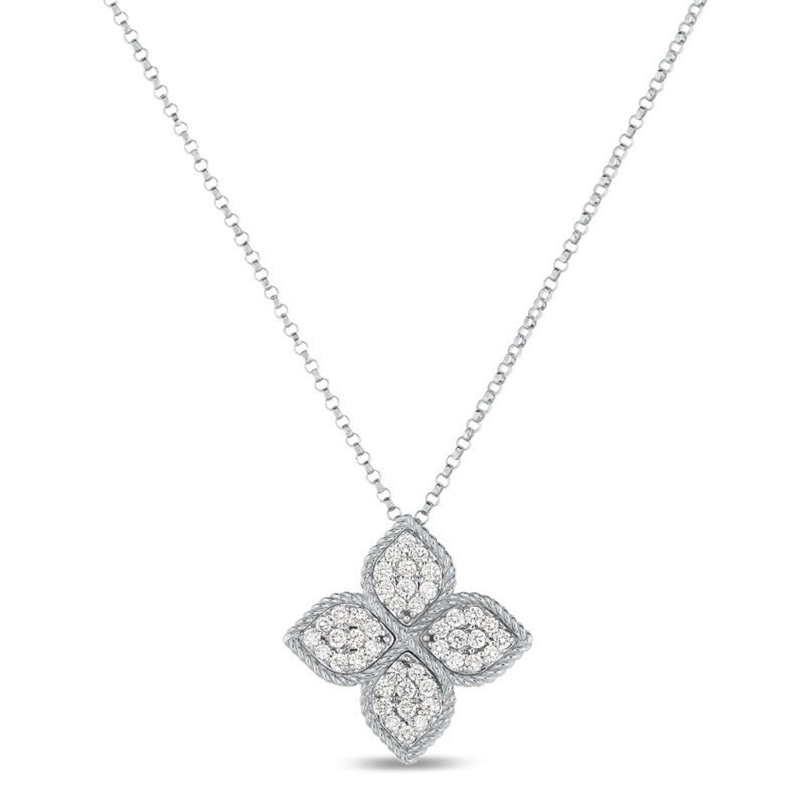 Roberto Coin Princess Flower Diamond Pendant