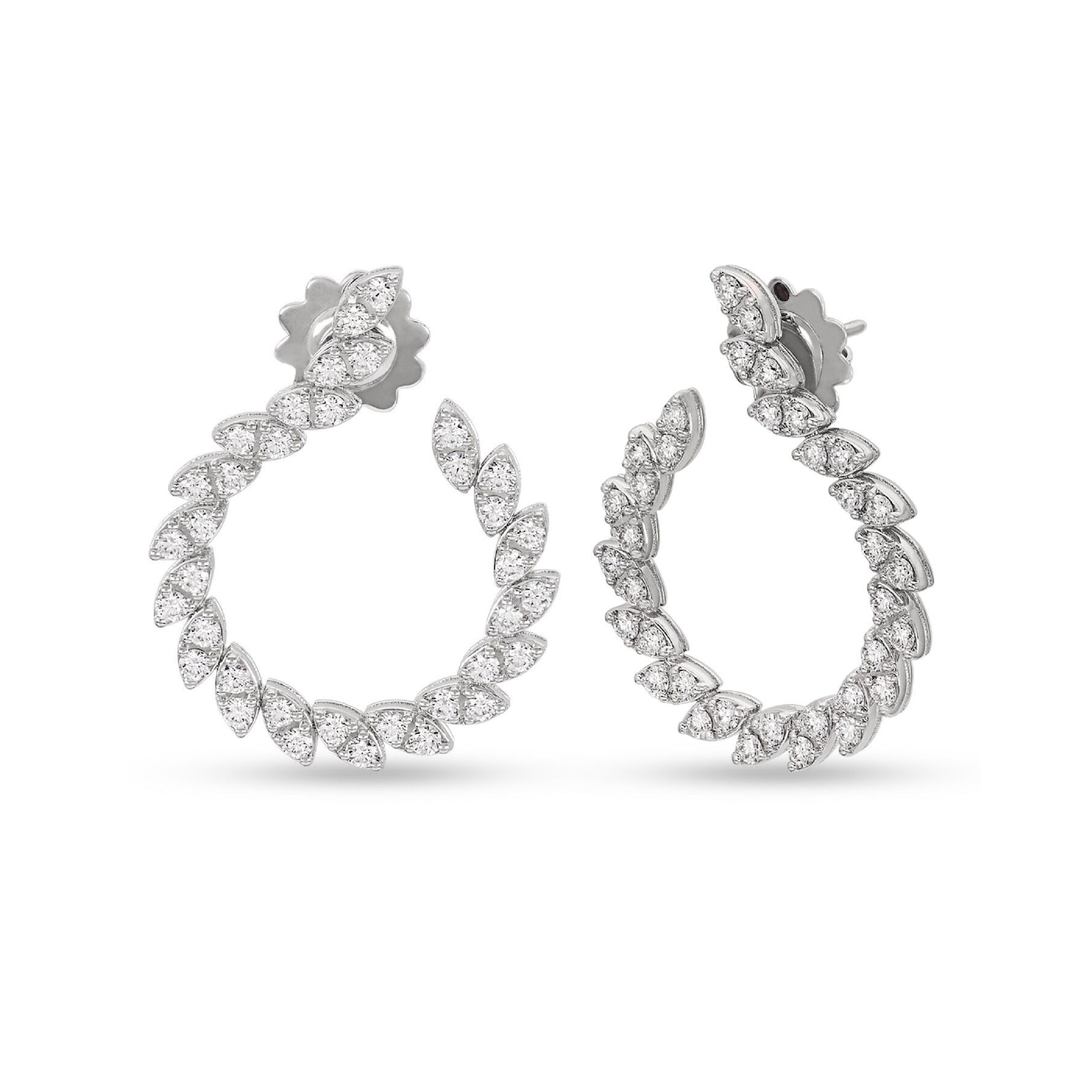 Roberto Coin The Marquesa Collection 18k White Gold 2.17cttw Diamond Earrings