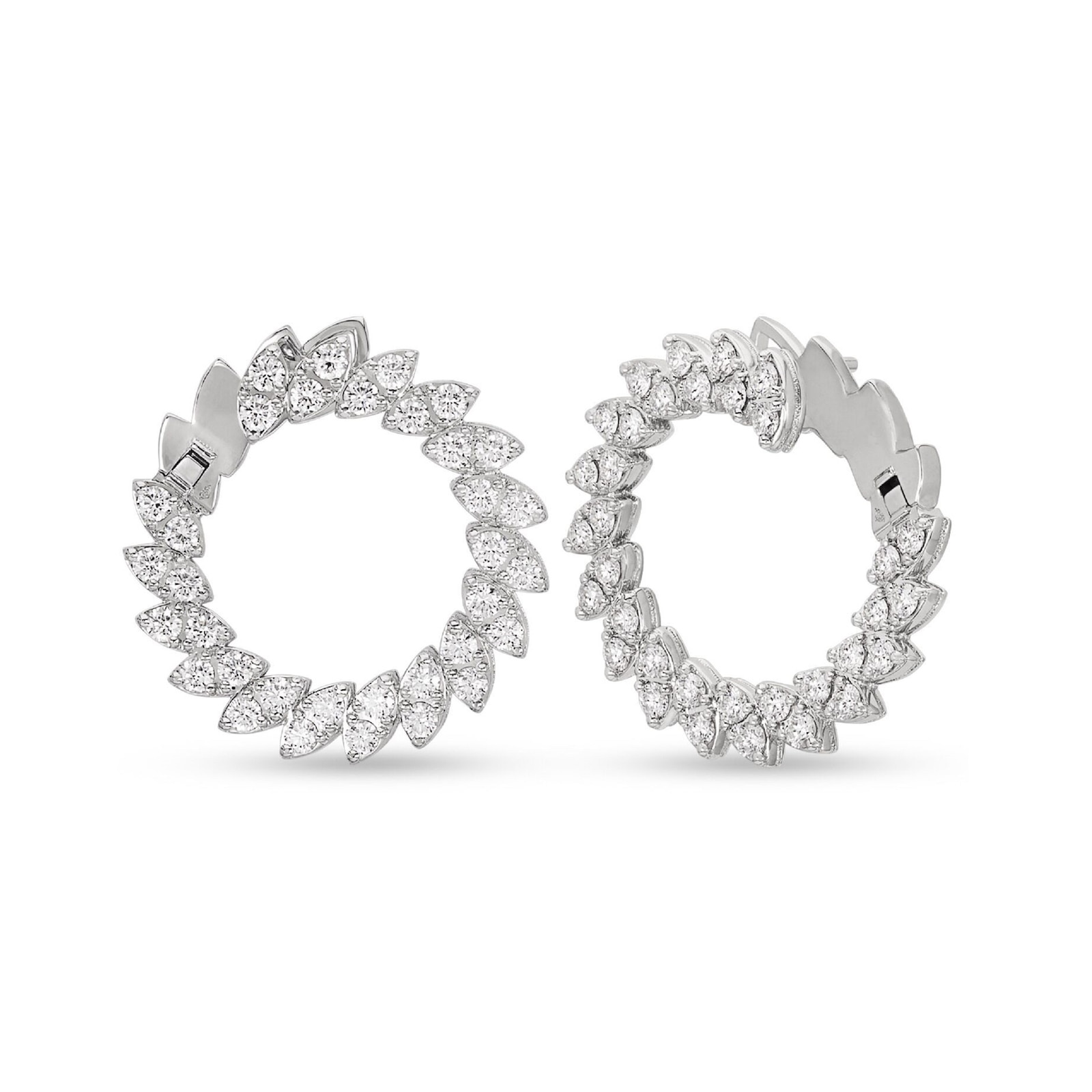 Roberto Coin The Marquesa Collection 18k White Gold 2.09cttw Diamond Earrings
