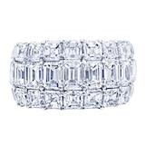 JB Star Platinum 6.55cttw Emerald & Princess Cut Engagement Ring -Ring Size 6.5