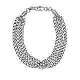 DKNY Chambers Silver-tone L Chain Statement Necklace.
