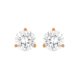 SWAROVSKI Rose Gold Plated Solitaire Earrings