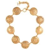 Susan Caplan Exclusive Susan Caplan Vintage Chanel Gold Plated Coin Necklace