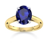 Mappin & Webb Belvedere 18ct Yellow Gold Oval Cut 7x5mm Sapphire Ring