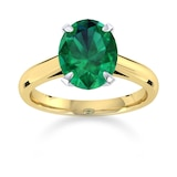 Mappin & Webb Belvedere 18ct Yellow Gold Oval Cut 6x4mm Emerald Ring