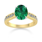 Mappin & Webb Boscobel 18ct Yellow Gold And 9x7mm Emerald Ring