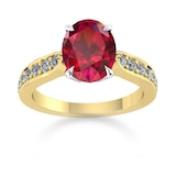 Mappin & Webb Boscobel 18ct Yellow Gold And 9x7mm Ruby Ring